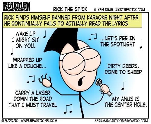 Guest Cartoon Rick the Stick - Bearman Cartoons