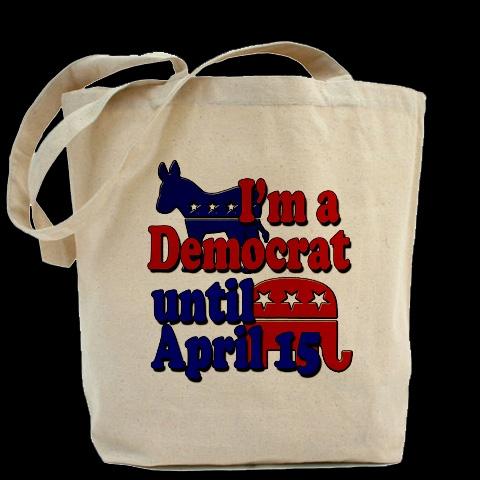 I'm a Democrat until April 15