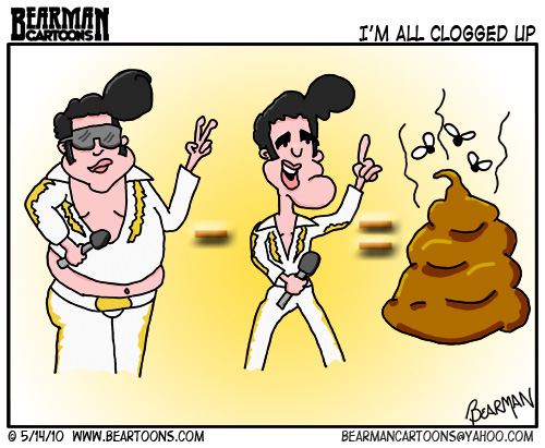 Bearman Cartoon - How Elvis Died
