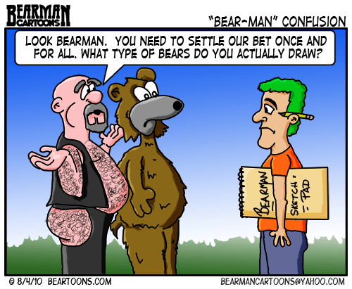 Bearman Cartoon Gay Bears vs Animal Bears