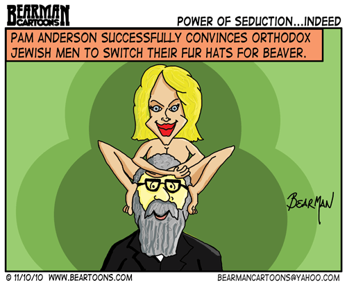 Bearman Cartoons Pam Anderson Israeli Fur