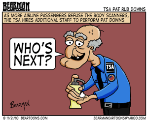 Editorial Cartoon: TSA Pat Down