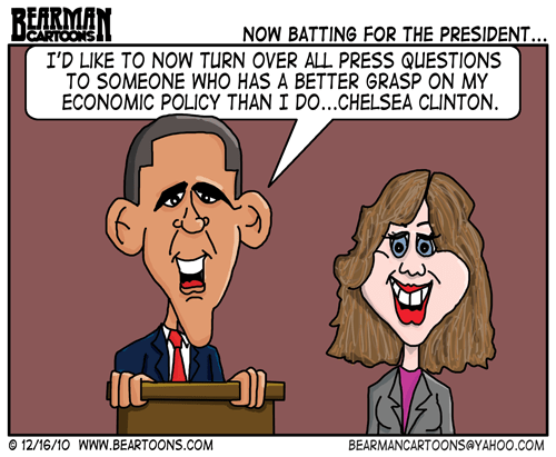 Editorial Cartoon: Obama and Chelsea Clinton