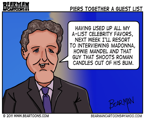 Editorial cartoon: Piers Morgan