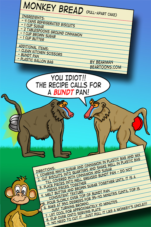 Monkey Bread Recipe from Bearman Cartoons
