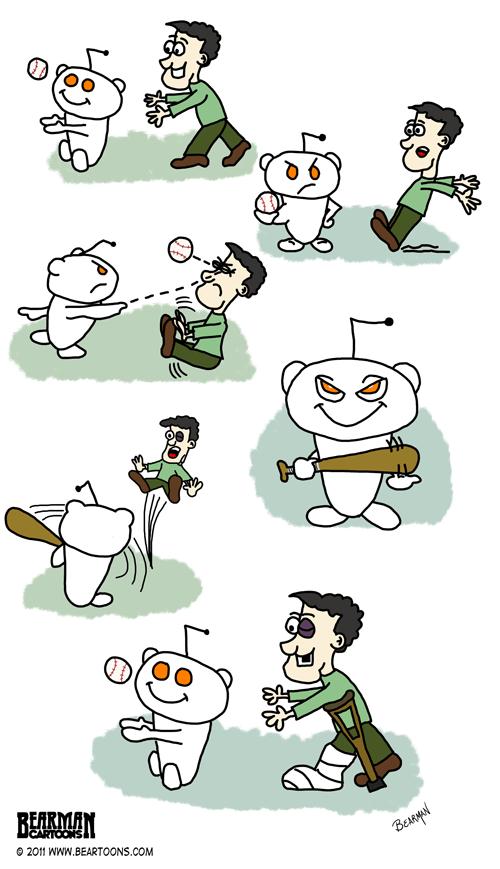 Bearman-Cartoons-Every Damned Time Reddit (an alternative view)