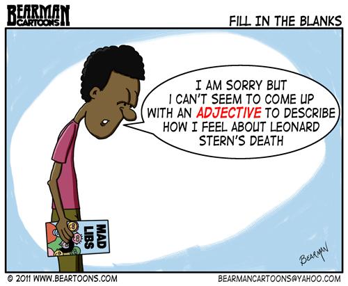 Editorial Cartoon: Mad Libs Creator Leonard Stern Dies