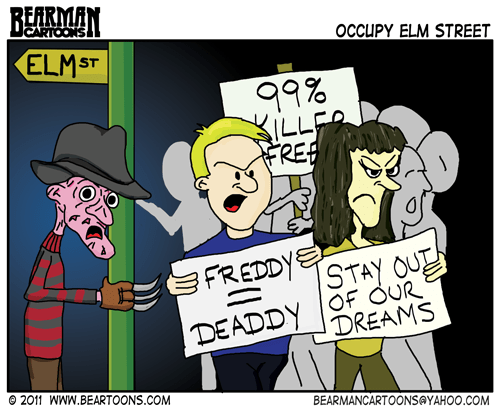 Editorial Cartoon Occupy Elm Street