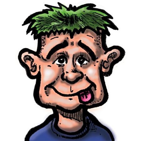Joel Poirier does a caricature of Bearman Cartoons