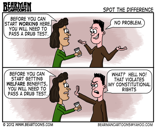 Editorial Cartoon: Welfare Drug Testing
