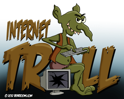 Internet Troll by Bearman Cartoons