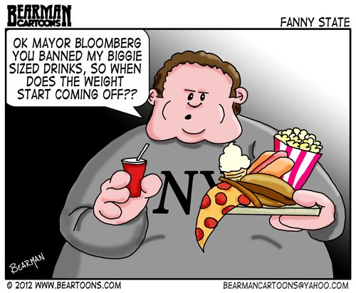 Editorial Cartoon Michael Bloomberg Soda Ban