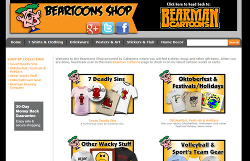 Beartoons Cafepress Shop