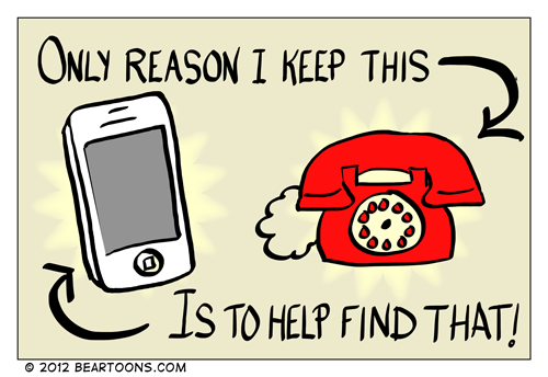 Bearman Cartoon Reason to Keep a Home Phone Line