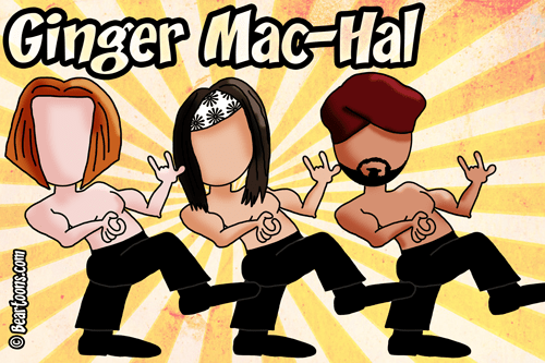 3MB WWE Ginger Mac-Hal by Bearman Cartoons