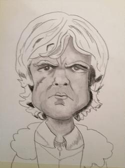 Bearman-Cartoons-Tyrion-Lannister Pencil