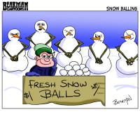 Bearman Cartoons Fresh Snow Balls