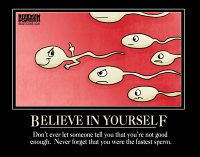 Bearman Cartoons Motivational Poster Believe in Yourself