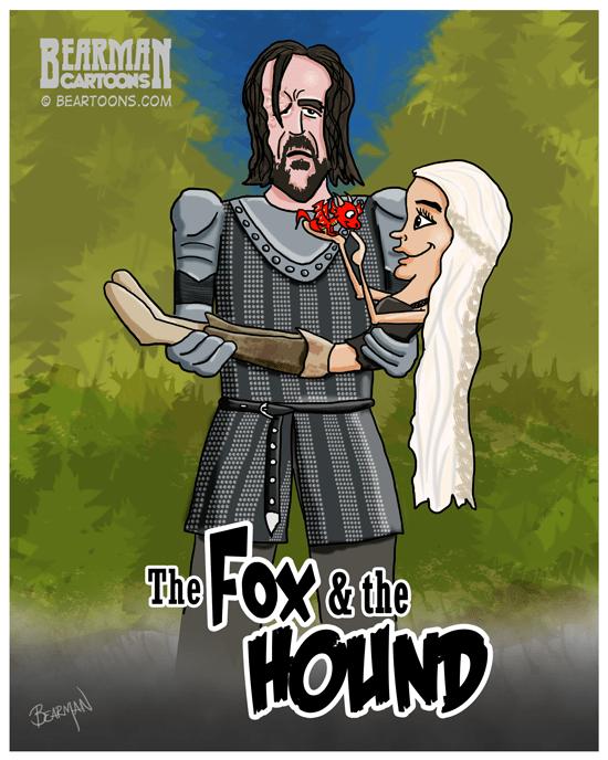 Fox-and-the-Hound-Game-of-Thrones-Bearman-cartoons