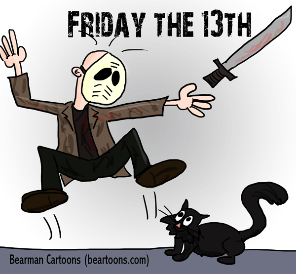 Bearman-Cartoons-Friday-the-13th-Jason-Black-Cat