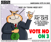 Vote No on Issue 3 Cartoon by bearman Cartoons