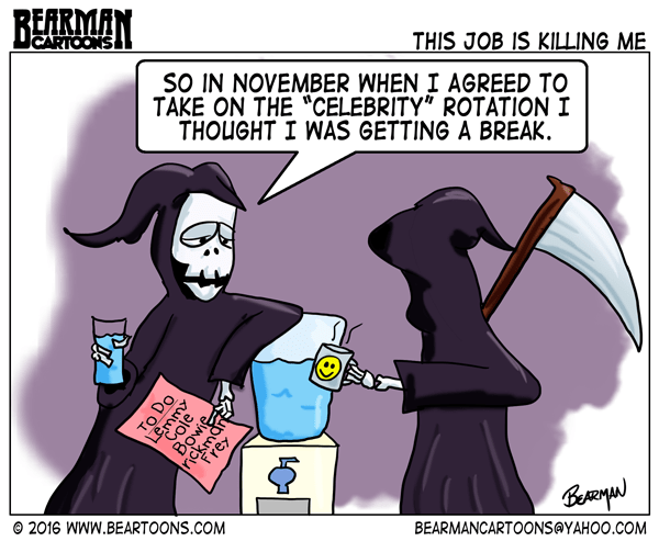 Celebrity Deaths Cartoon Bearman Cartoons