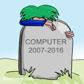 Computer Crash Cartoon