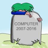 Computer Crash Cartoon