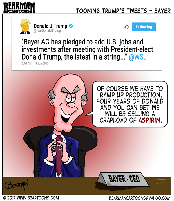 1-19-17-Bearman-Cartoons-Trump-Tweets-Cartoon-Bayer Trump Cartoons