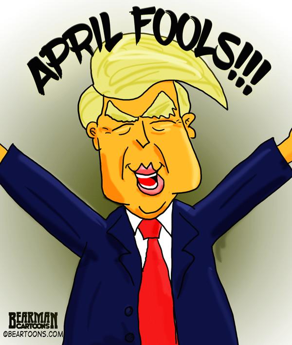 Happy Donald Trump Cartoon Bearman Cartoons