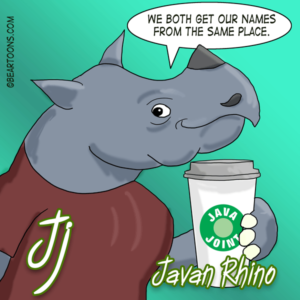 J is for Javan Rhino Animal Alphabets