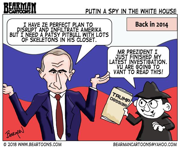 Editorial Cartoon: Putin a Spy in the White House