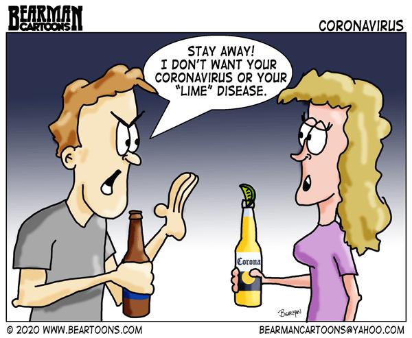 Bearman Cartoon Coronavirus consumption