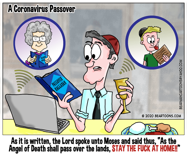 A coronavirus Passover cartoon