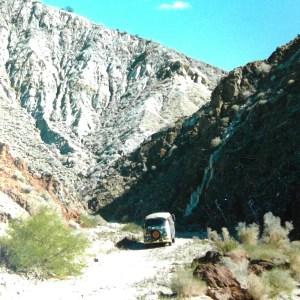 Bus in death valley