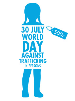 illustration from United Nations Web. World Day against Trafficking in persons