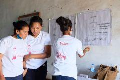 2 Oligaun Anju taking care of the new volunteers and teaching them