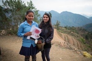 February 2017- Tejana could not come the day that we did the MCT and we did one only for her. The nurse in the picture is Susmila Khanal