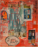 "Alexia Orban - ""Drvena Vrata"" - Porte en bois - Septembre 2013 - 80 x 100cm"