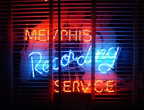 Memphis Recording Studio Neon