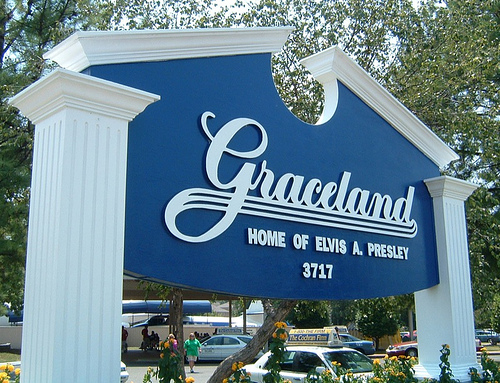 Main Entrance to Graceland!
