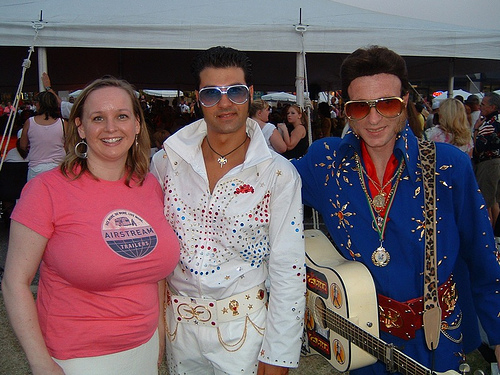Christine, Italian Elvis and bad-wig Elvis!