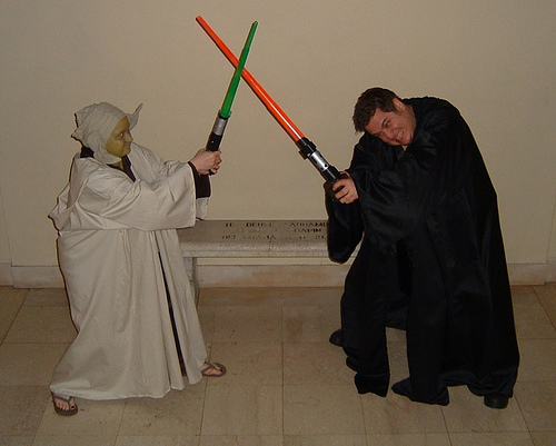 Yoda & Anakin duel to the death!