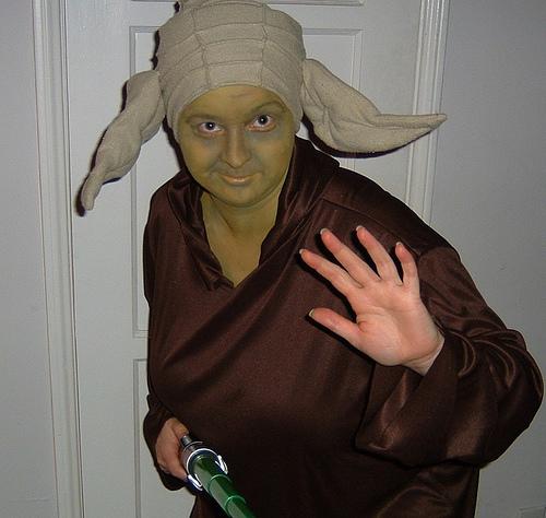 Christine as Master Yoda!
