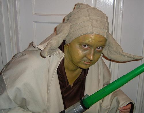 Christine in full-on Yoda mode!