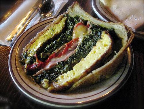 Tasty breakfast quiche @ The French Pastry Shop, Santa Fe (Feb. 2008)