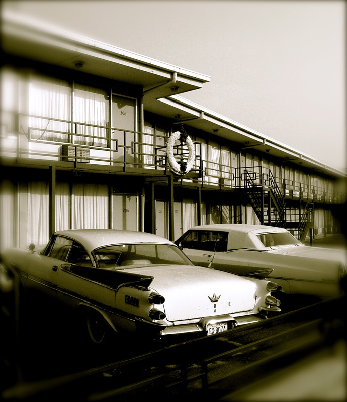 Lorraine Motel balcony where Dr. King was shot (August 2008)
