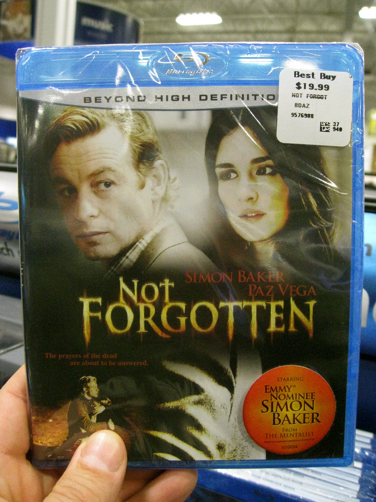 """Not Forgotten"" Blu Ray at Best Buy!"