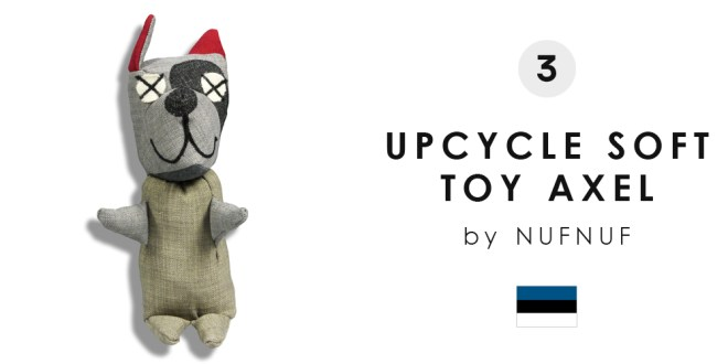 3RD UPCYCLE SOFT TOY AXEL BY NUFNUF