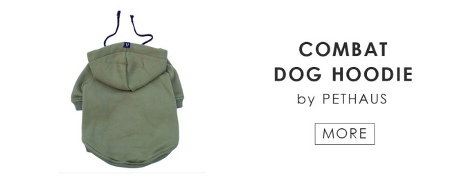 combat dog hoodie by Pethaus / more